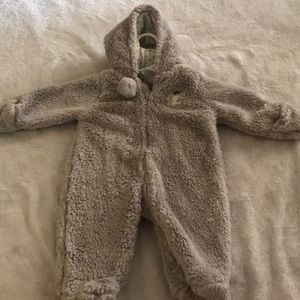 Newborn fleece snow suit
